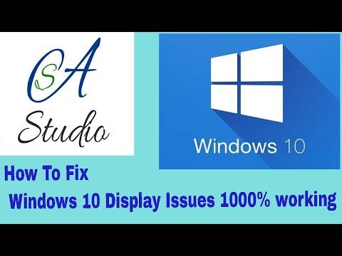Fix Screen Resolution Problem in Windows 10  in urdu/hindi