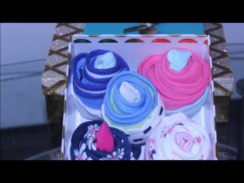 Baby Onesie and Bib cupcakes