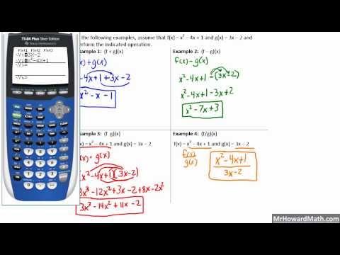 Composite Function Concepts and Calculator Tricks Pre-Calculus