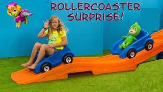 PAW PATROL Assistant Roller Coaster Surprise with Puppy Dog Pals + PJ Masks + Emoji Movie