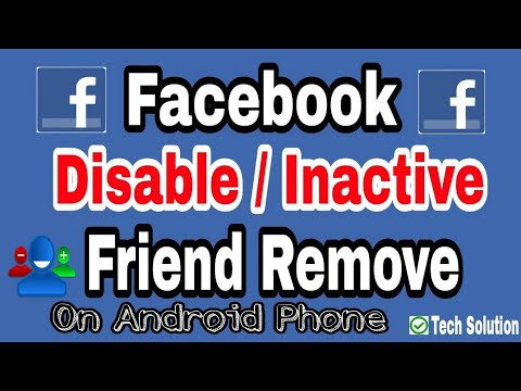 How to remove disable facebook friend using Android ᴴᴰ