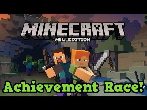 Minecraft Wii U - Achievement Race! vs Boltz