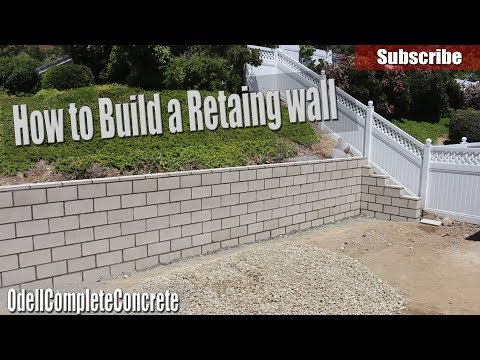 How to Build a Retaining Wall - DIY