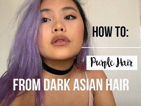 ✂️ how to: pastel lavender/purple hair + maintenance (from dark asian hair)