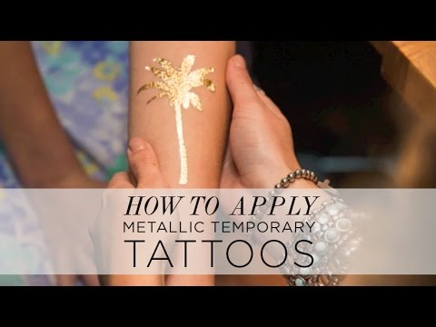 How To Apply Temporary Tattoos (Metallic Tattoos from Shop LrSi)