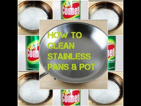 how to clean dirty stainless pots and pans
