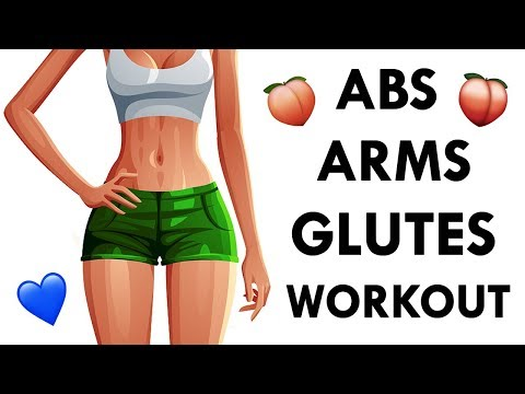8 Minute HOT Body Workout for Flat Abs, Slim Inner Thighs, Perky Butt & Toned Arms!