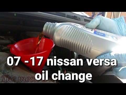Nissan versa note oil change