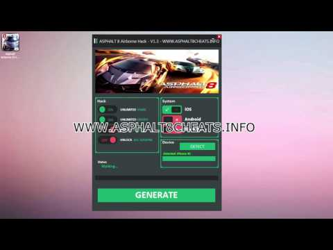 Asphalt 8 Kostenlose Anleitung für Credits - iOS and Android - Kein Jailbreak nötig