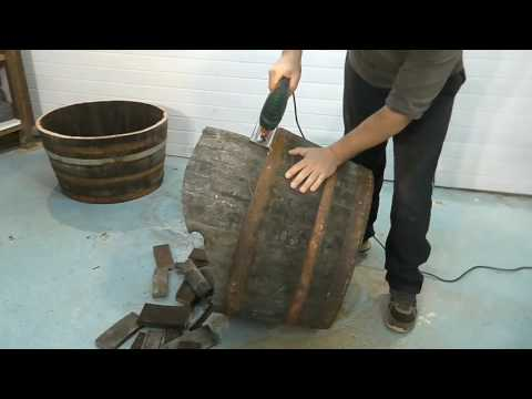 How to make FLOWERPOTS from a wine barrel