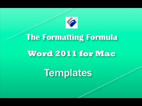 Word 2011 for MAC   Templates