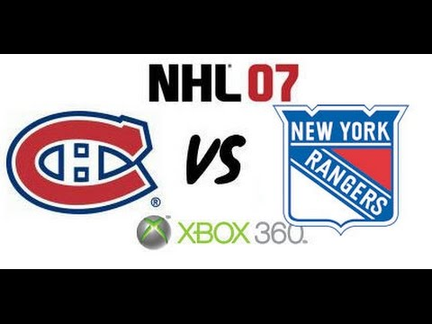 NHL 07 - Montreal Canadiens vs New York Rangers