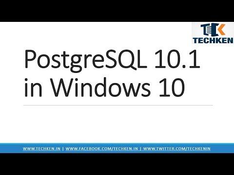 How to Install PostgreSQL 10 & pgAdmin 4 on Windows 10
