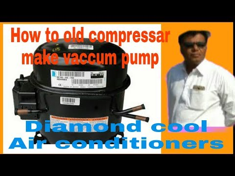 How to Make Old compressor vacuum pump