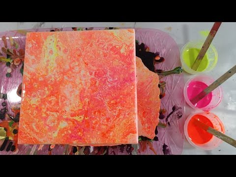 How to Make Neon Acrylic Paints for Pouring with Soap Colorants