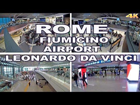 LEONARDO DA VINCI - FIUMICINO AIRPORT , ROME , ITALY 4K