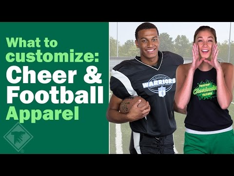 What to Customize: Cheer & Football Apparel