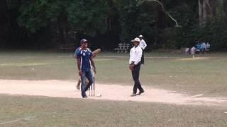 Nuwan Kulasekara Playing Soft Ball Cricket