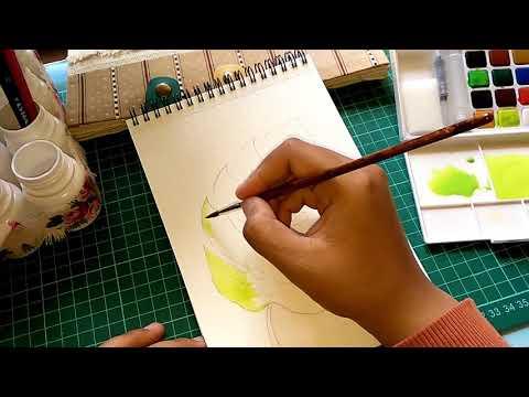 Monstera Leaves Watercolor Painting