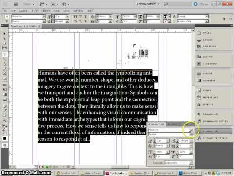 InDesign CS5, magazine layout, part1, setup and basic styles.mp4