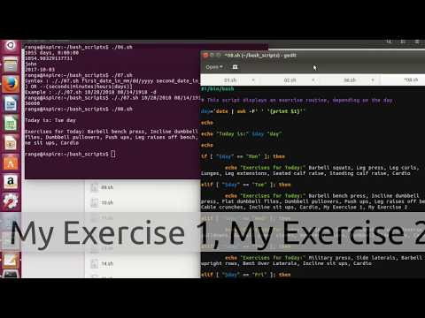 Bash Shell Scripting in a Minute Version 1.0