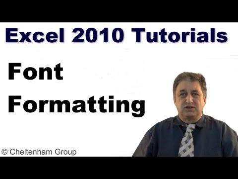 Excel 2010 Tutorial | Font Formatting in Excel 2010