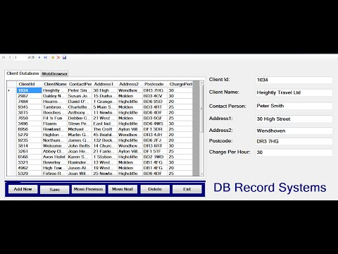 How to create Database Record Systems in Visual Basic.Net