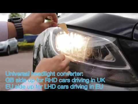 How to Fit Headlamp Converters for driving in France