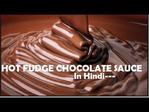Hot Chocolate Fudge Sauce/Chocolate Syrup -- Making In Hindi