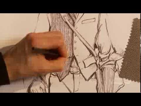 How to hand render a herringbone pattern on a stylish men's vest - Preview