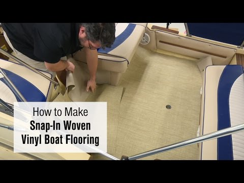 How To Make Snap-In Woven Vinyl Boat Flooring