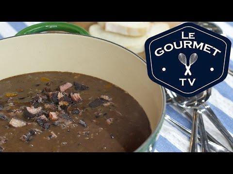Ham & Black Bean Soup Recipe - Le Gourmet TV