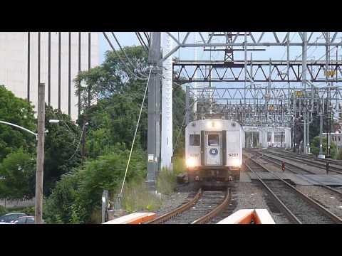 Metro North Danbury Mini-Bomb Shuttle Train arriving into South Norwalk, CT