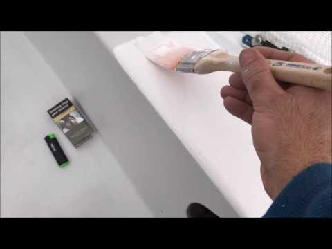 DIY Boat Restoration: Painting two pack International Perfection with roller and brush