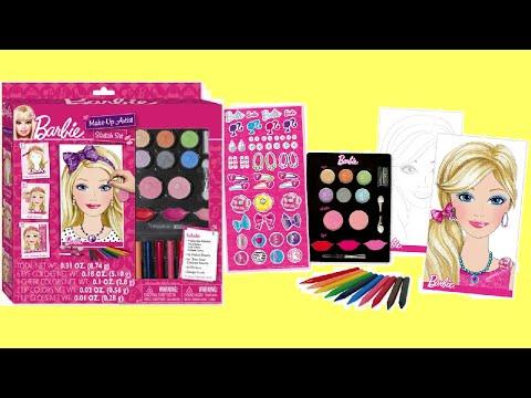 Barbie Princess Makeup Artist Set Unboxing - Kids How to Make Up DIY !!!