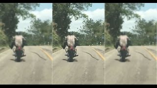 Snake ATTACKS Motorcyclist in Thailand   What
