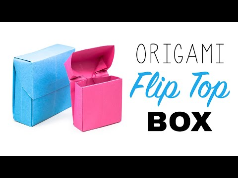 Origami Flip Top Box Tutorial ♥︎ DIY ♥︎