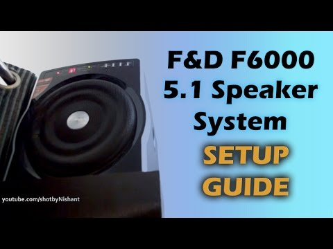 Home Theater System Setup - F&D F6000 - 5.1 Speakers ( SICK BASS ) & SONY KLV-40R352D LED