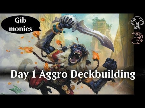 MTG Arena Day 1 Aggro deckbuilding