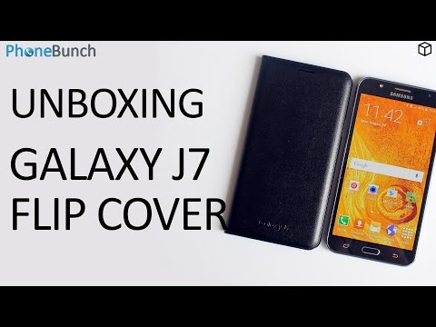 Samsung Galaxy J7 Flip Cover Unboxing and Hands-on Overview