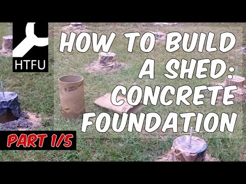 How to Build a Shed Foundation: Build a Concrete Foundation for a Tool Shed (How to Make a Shed 1/5)