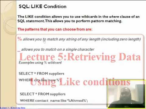 Oracle Select Like '% _' With Where Clause تعليم أوراكل