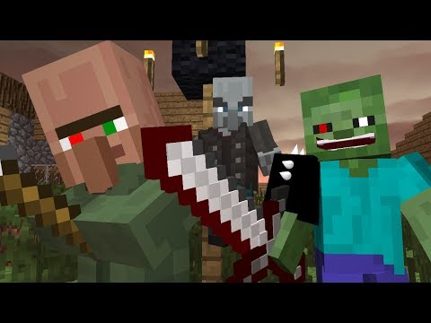 Zombie vs Villager Life 1 - Minecraft Animation