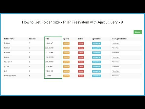 How to Get Folder or Directory Size - PHP Filesystem with Ajax JQuery - 9