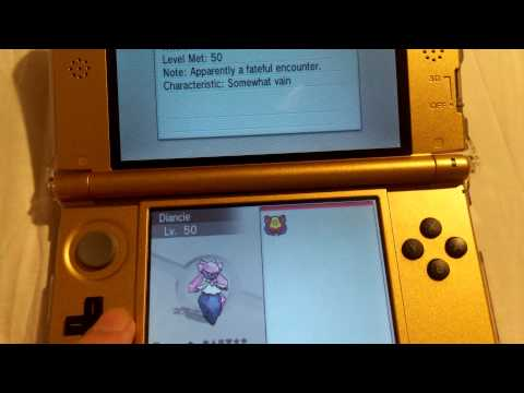 Diancie! Pokemon X and Y! 6 SIMPLE STEPS TO GET DIANCIE!