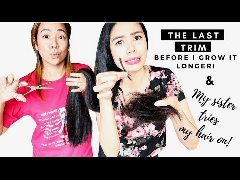 THE LAST TRIM Before I Grow My Hair Longer & My Sister Tries On MY HAIR-BEAUTYKLOVE