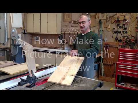 How to Make a Wooden Frame on the Table Saw