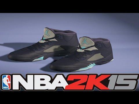 #NBA2K15 Next Gen Shoes - Air Jordan 5 Hornets (Midnight Navy)