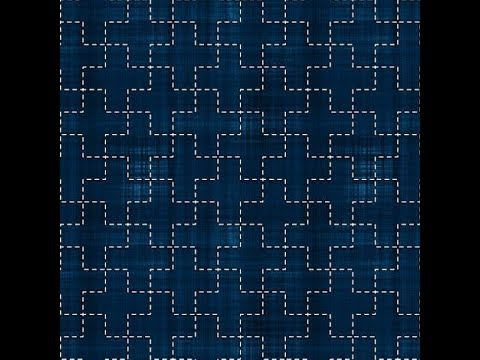 Sashiko Embroidery // Quilt Design Tutorial-9- For Very Beginners
