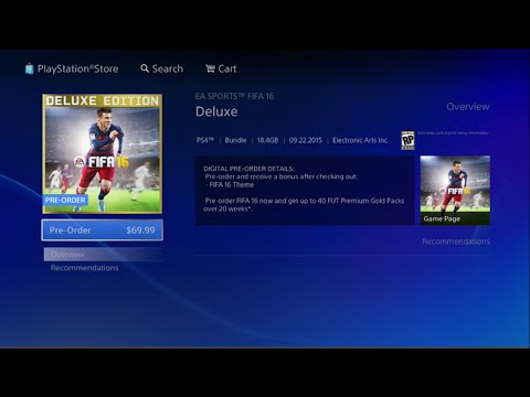 How To Buy FIFA 16 Deluxe Edition on PS4 ( Playstation 4 ) - Tutorial